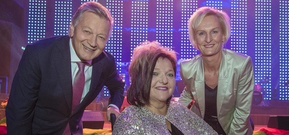 ORF-Landesdirektor Helmut Krieghofer, RollOn-Obfrau Marianne Hengl und Moser-Holding-Vorständin Silvia Lieb.