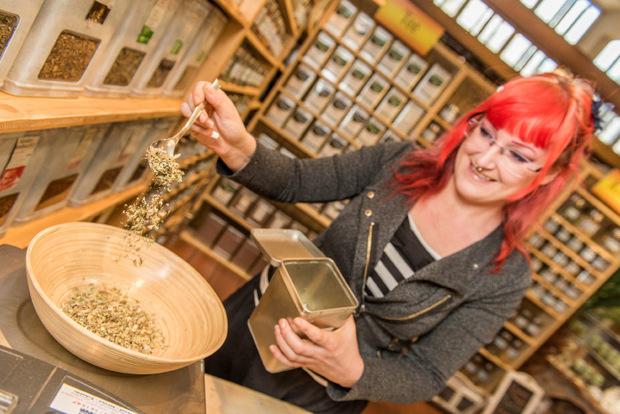 """Melanie Schütz' """"Flavour Box"""" in der Markthalle lockt internationale Kunden an."""