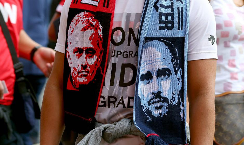 Jose Mourinho und United oder Pep Guardiola und City - das ist in Manchester am Sonntag die Frage ...