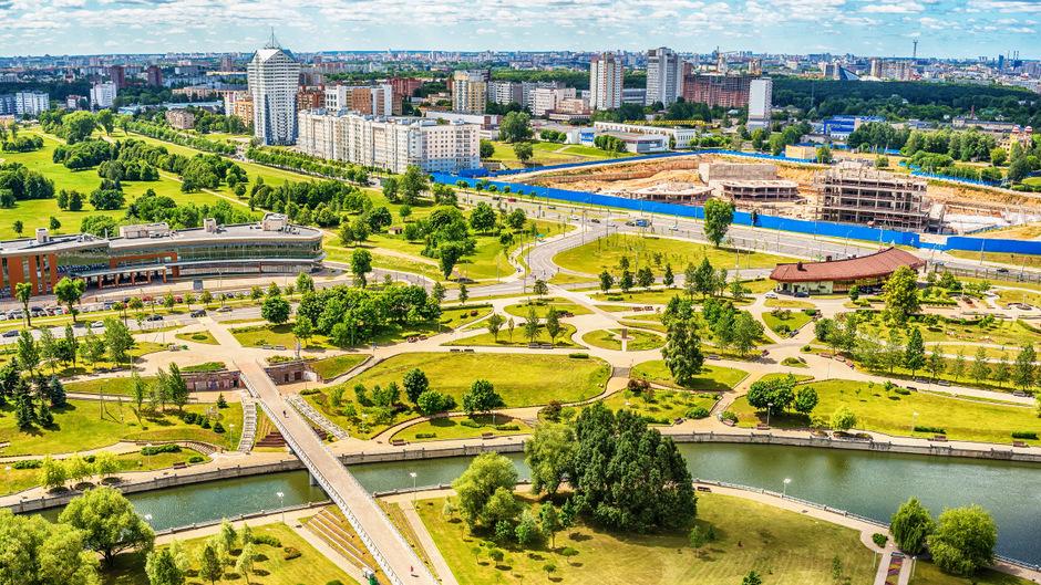 Minsk überrascht mit vielen Grünflächen, seiner Sauberkeit sowie den zahlreichen neuen Bauten.