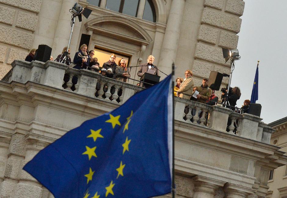 """Peter Simonischek am Samstag im Rahmen einer Vorlesung im Rahmen der Veranstaltung """"European Balcony Project""""."""