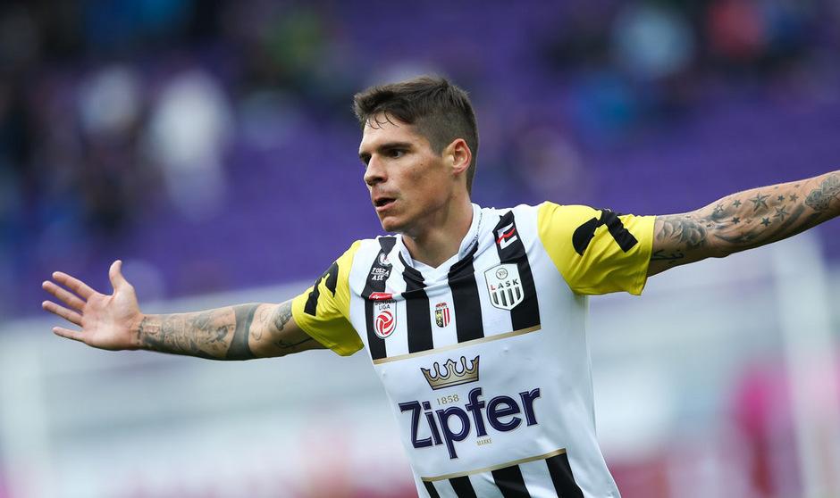 Dominik Frieser avancierte mit zwei Treffern zum Matchwinner für den LASK.