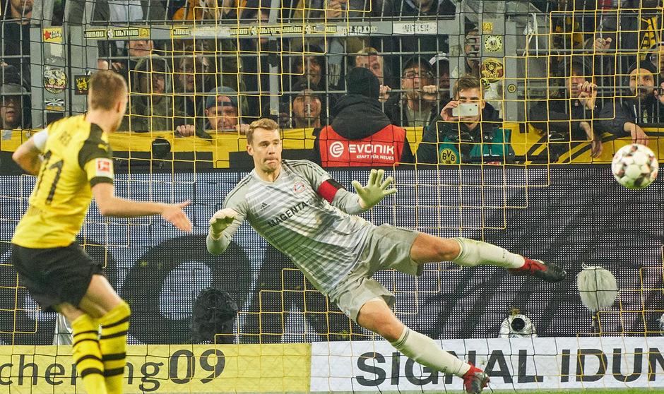 Marco Reus blieb vom Elfmeterpunkt eiskalt und schickte Bayern-Goalie Manuel Neuer ins falsche Eck.