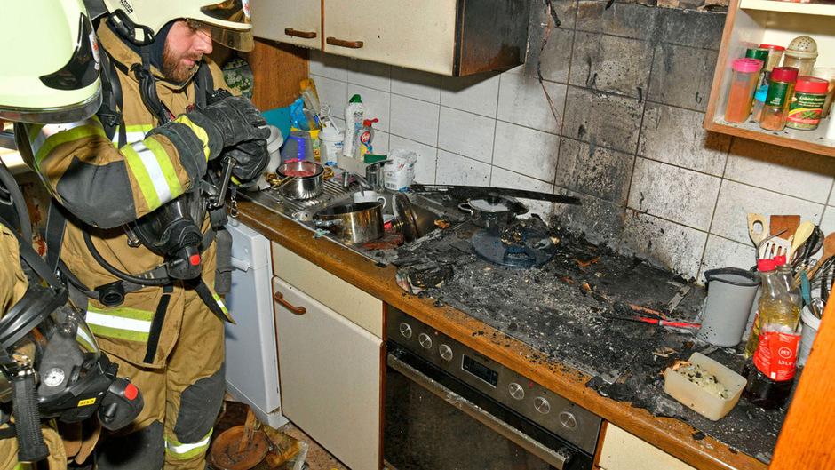 Die Küche wurde schwer beschädigt.