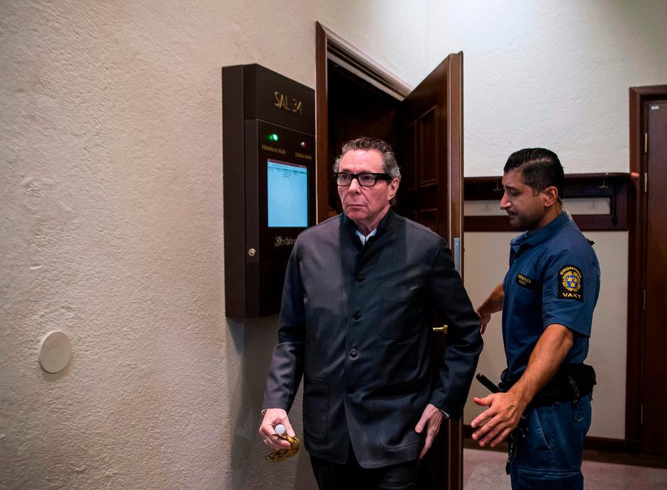 Jean-Claude Arnault beim Verlassen des Gerichtsaals am 24. September.