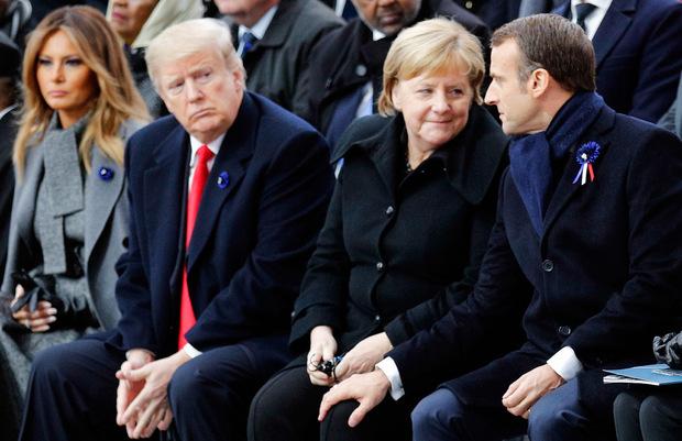 Trump hatte bei seiner Ankunft in Paris am Freitag Macron heftig kritisiert. Anstoß war die von Macron ins Spiel gebrachte europäische Armee gewesen.