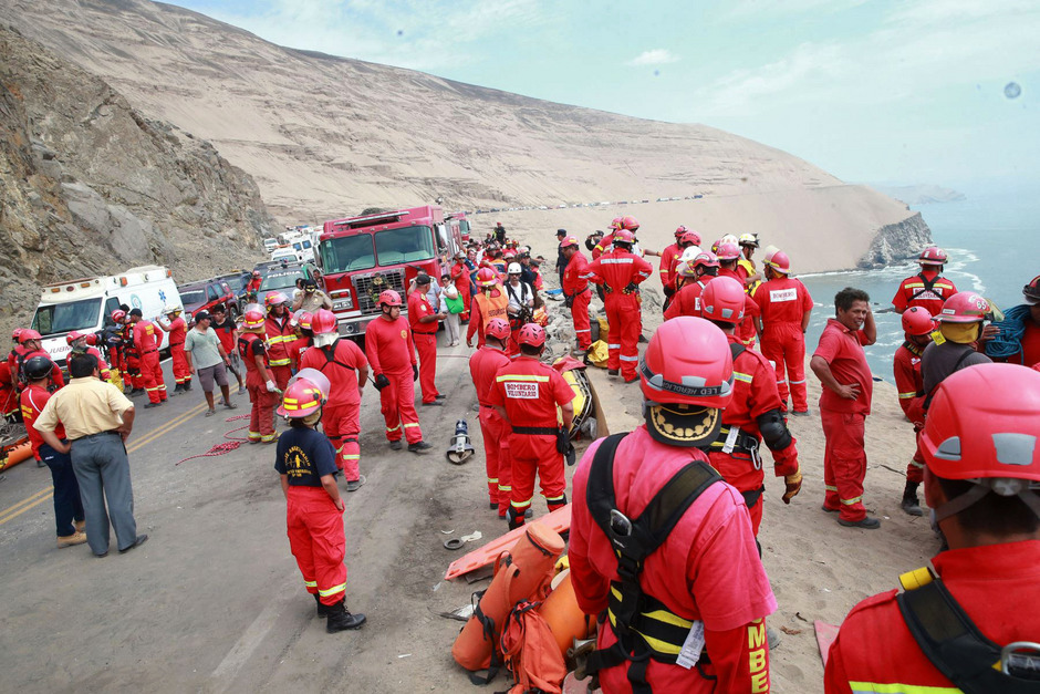 Immer wieder kommt es in Peru zu schweren Busunglücken.