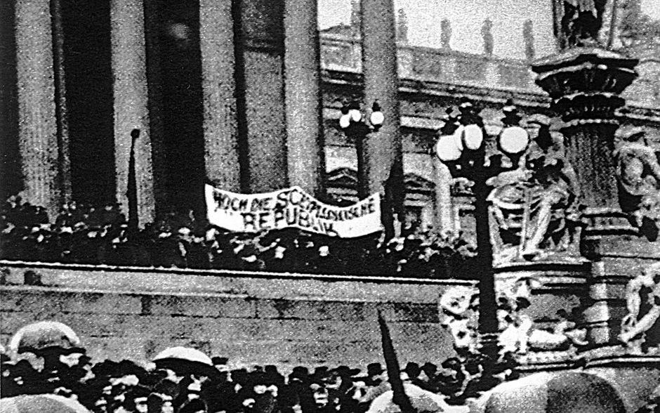 Am 12. November 1918 wurde nach dem Ende des Ersten Weltkriegs die Republik ausgerufen.