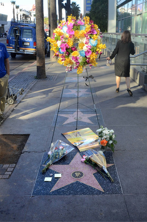 Der Stern von Stan Lee auf dem Walk of Fame wurde schnell zur Gedenkstätte.