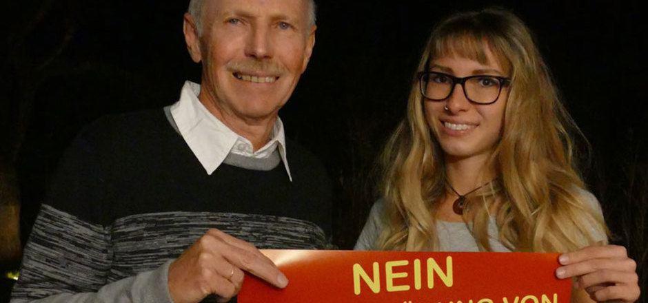 """Tina und Gerd Estermann sind Initiatoren der Bürgerinitiative """"Nein zur Zerstörung von Feldringer Böden und Schafjoch""""."""