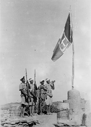 """Dem als """"Abessinien-Abenteuer"""" verharmlosten italienischen Kolonialkrieg in Ostafrika fielen zwischen 1935 und 1941 rund 700.000 Menschen zum Opfer. Die italienische Armee setzte systematisch Giftgas ein."""