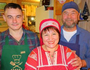 Tatjana Schuganzewa empfängt mit Mann Sergei und Sohn Denis gerne Fremde.