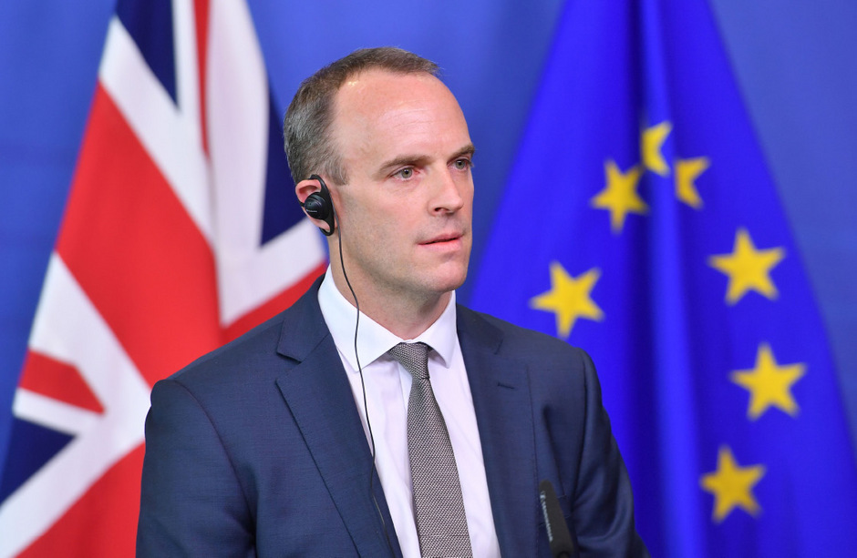 Der damalige Brexit-Minister Dominic Raab im August dieses Jahres.