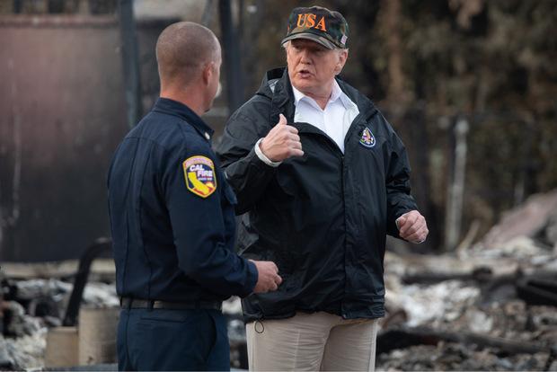 Am Wochenende besuchte Trump das Katastrophengebiet.