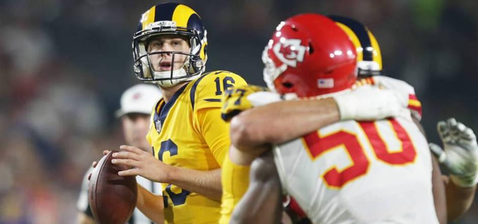 Rams-Quarterback Jared Goff führte sein Team zum unglaublichen Sieg über die Chiefs.