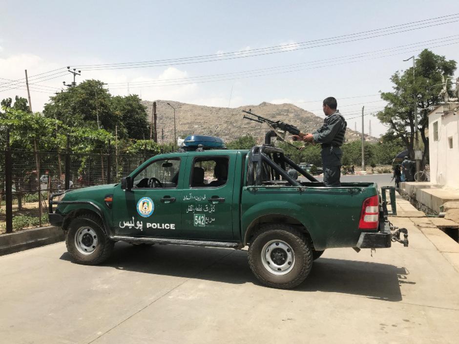 Sicherheitskräfte in Kabul.