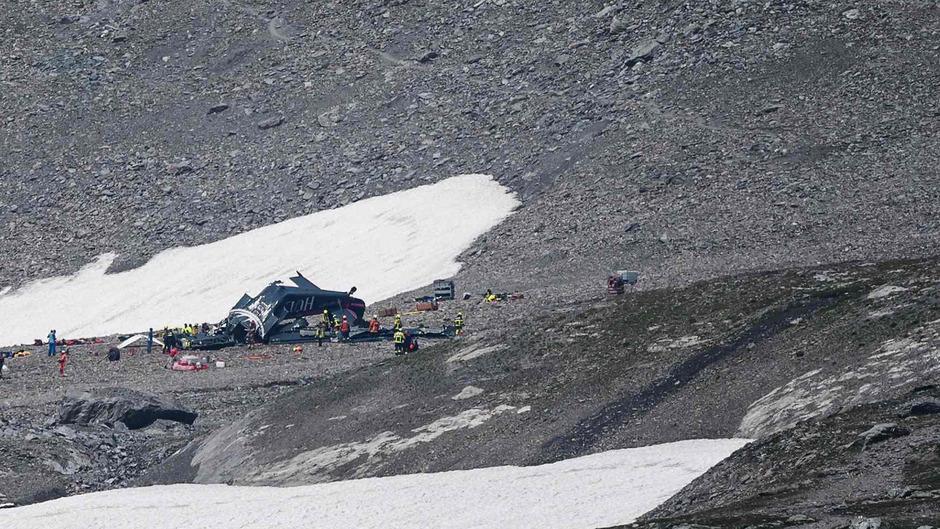 Die Absturzstelle lag am Berg Piz Segnas in einem Wandergebiet auf mehr als 2500 Metern Höhe.