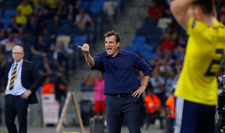 Israels Coach Andreas Herzog.