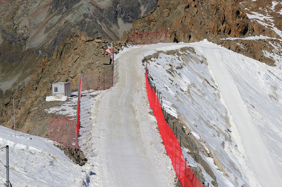 Der Skiweg am Hinteren Brunnenkogel wurde heuer ohne Genehmigung verbreitert.