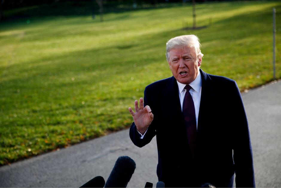 US-Präsident Donald Trump vor dem Weißen Haus.