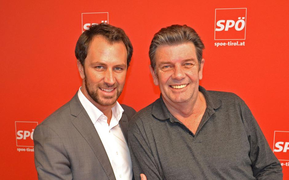 Der geschäftsführende Tiroler SP-Vorsitzende Georg Dornauer und sein Vater, Georg Dornauer senior.