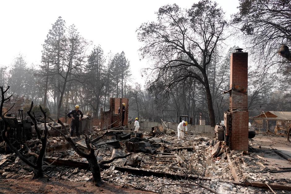 """Mehr als 13.000 Wohnhäuser wurden durch das """"Camp Fire"""" zerstört."""