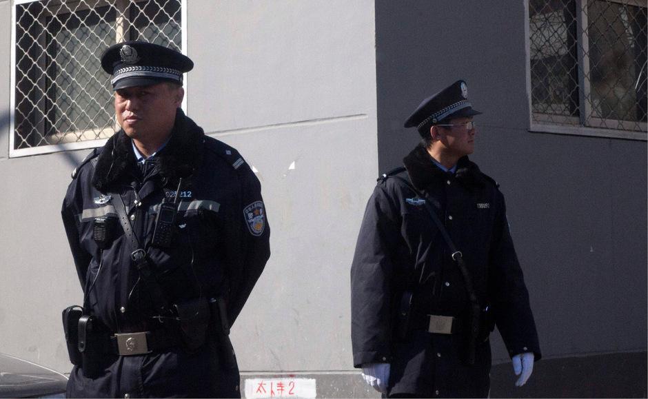 Chinesische Polizeibeamte. (Symbolfoto)