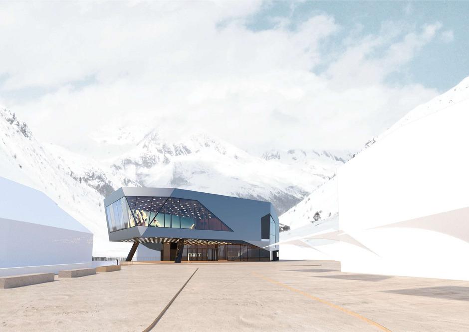 """Der neue Piccardsaal (im Bild) erhält eine Betreibergesellschaft, die von Gemeinde und Uni zu je 25 Prozent und zur Hälfte vom Ötztal Tourismus getragen werden soll.<span class=""""TT11_Fotohinweis"""">Foto: superwien architektur </span>"""