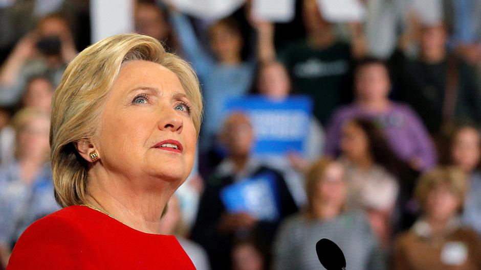 Die Demokratin Hillary Clinton.