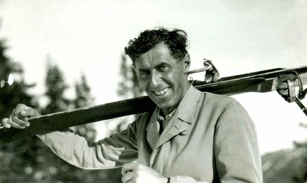 """Johann """"Hannes"""" Schneider: Geboren: 24. Juni 1890 in Stuben am Arlberg. Verstorben: 26. April 1955 in North Conway, New Hampshire"""