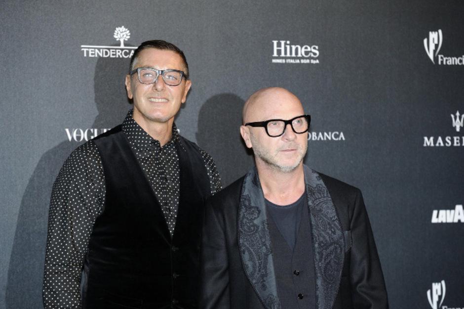 Die Modeschöpfer Domenico Dolce (l.) und Stefano Gabbana.