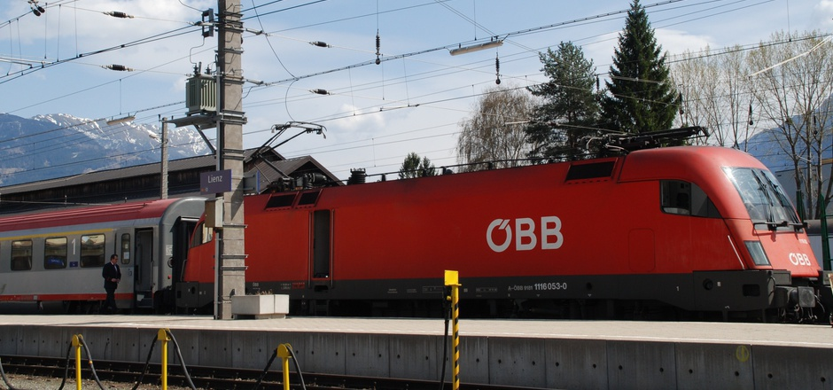 Der Lienzer Bahnhof.