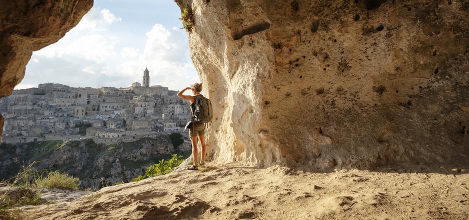 Matera mit seinen Höhlensiedlungen wirkt wie aus einer anderen Welt.