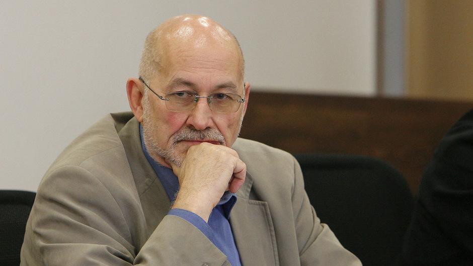 Der deutsche Rechtsextremist Horst Mahler 2008 vor Gericht.