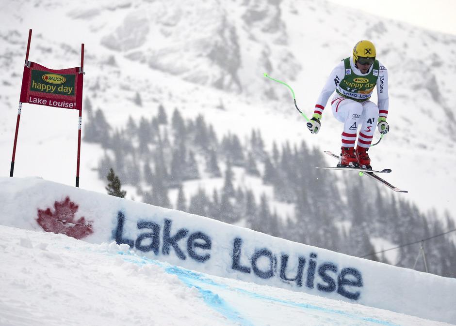 Max Franz und Co. wollen auch heute wieder für einen ÖSV-Erfolg in Lake Louise sorgen.