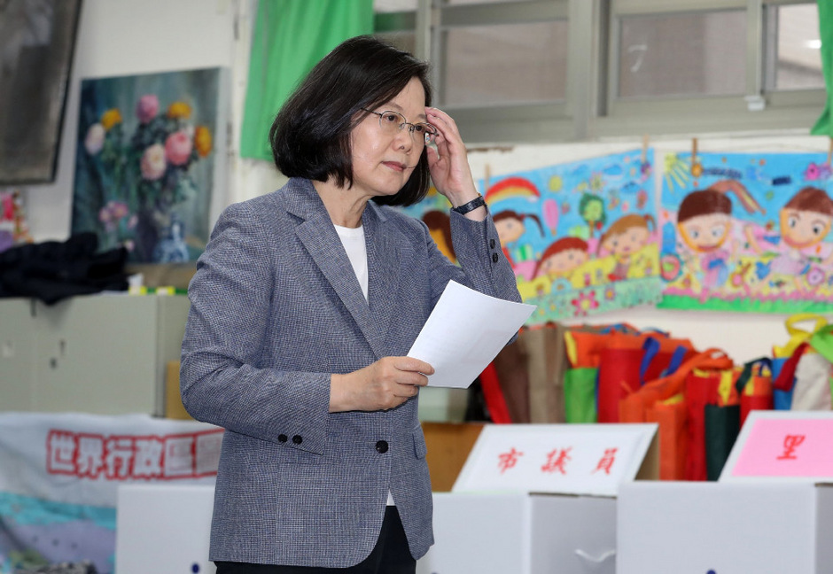 Kommunalwahlen in Taiwan: Präsidentin legt Parteivorsitz nieder