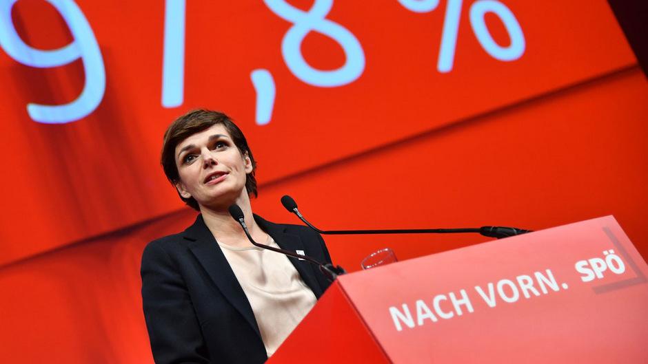 Pamela Rendi-Wagner sprach über sich selbst, ihre Ziele, worum sich die Partei kümmern sollte und nicht zu knapp über das, was die Regierung aus ihrer Sicht falsch macht.