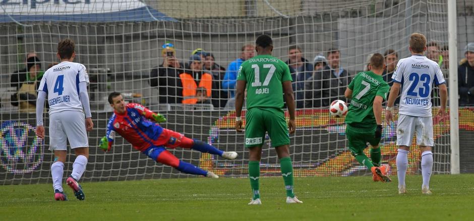 Benjamin Pranter verwertete den Hand-Elfmeter zum 1:0-Sieg gegen Horn.