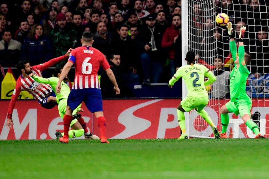 Diego Costa brachte Atletico in Führung.