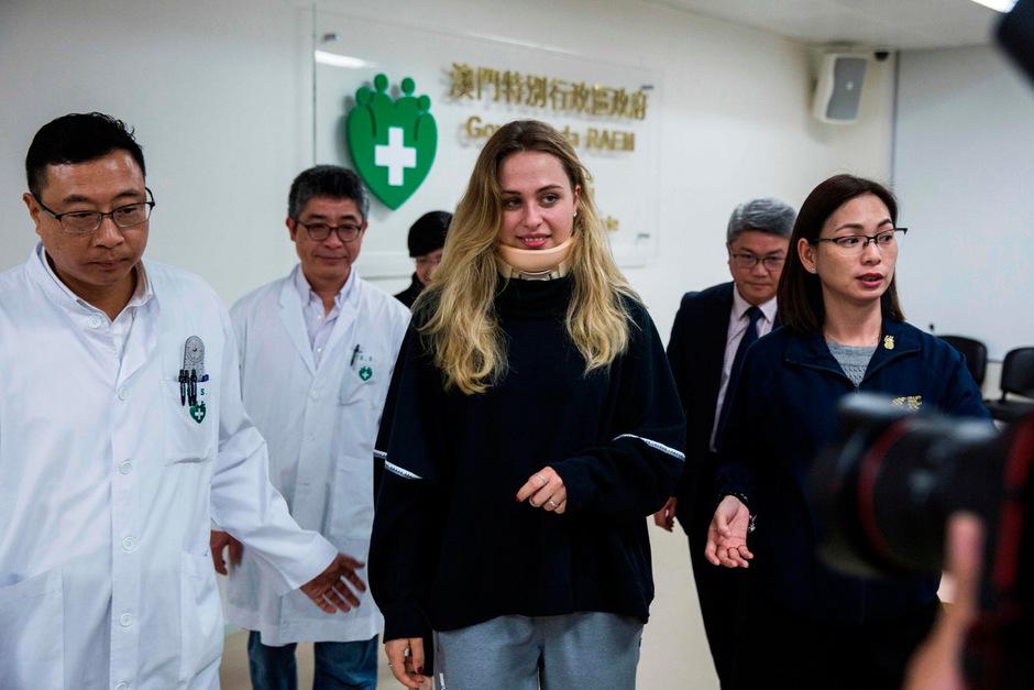 Sophia Flörsch durfte das Krankenhaus in Macao verlassen.