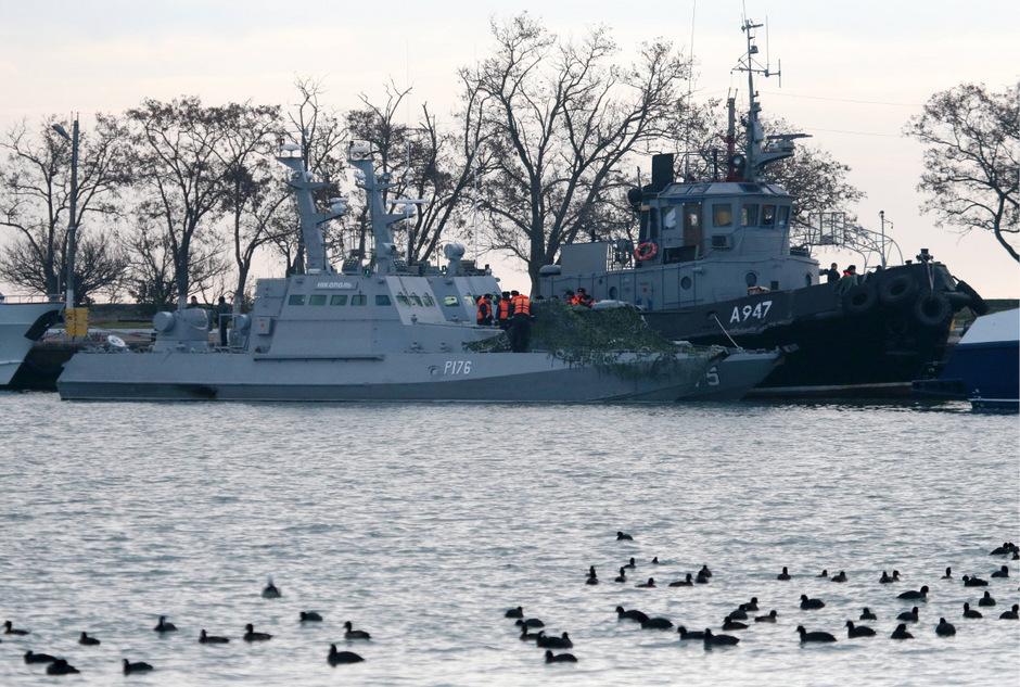 Ukrainische Marine-Schiffe im Hafen von Kerch: Es droht  eine weitere Eskalation zwischen Russland und der Ukraine.