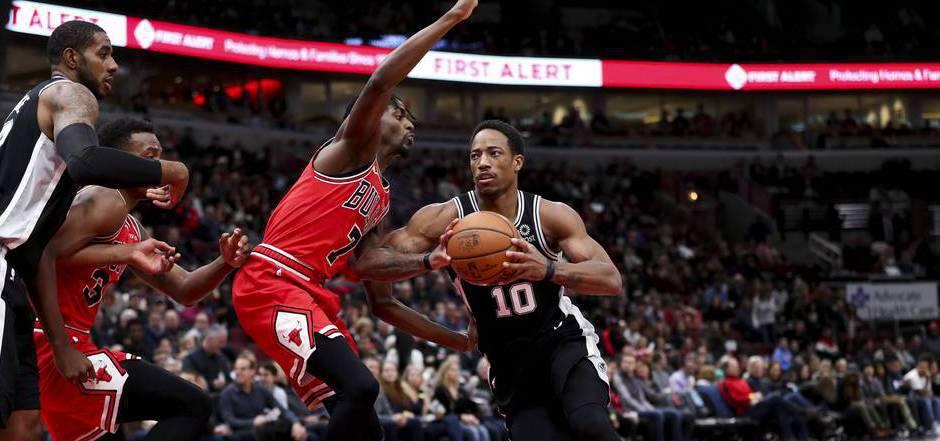 DeMar DeRozan führte die Spurs zum Sieg.