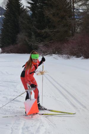 Das Orienteering funktioniert auch im Winter, dann eben mit Langlaufskiern.