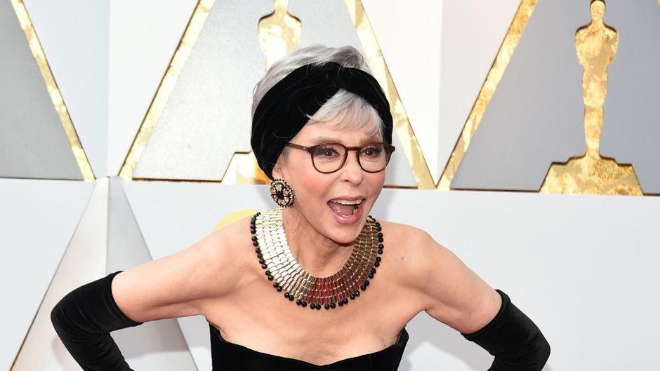 Rita Moreno bei der 90. Oscar-Verleihung im Februar: Die 86-Jährige hat für ihre Rolle als Anita vor 56 Jahren einen Oscar gewonnen.