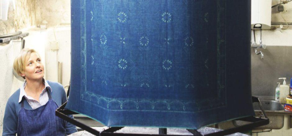 Der Blaudruck ist eine jahrhundertealte Technik der Stoffveredelung.