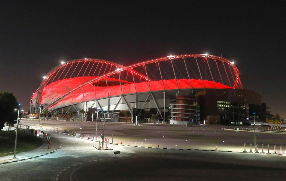Das Khalifa International Stadium erstrahlt bereits vier Jahre vor der WM in vollem Glanz.