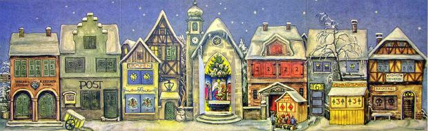Im Zweiten Weltkrieg wären Adventkalender beinahe in Vergessenheit geraten. Hätte nicht ein Stuttgarter im Jahr 1946 diesen Kalender produziert.