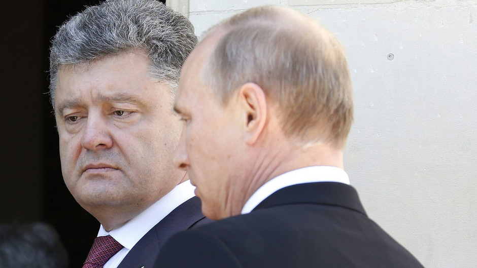 Pedro Proschenko und  Wladimir Putin auf einem Archivbild.