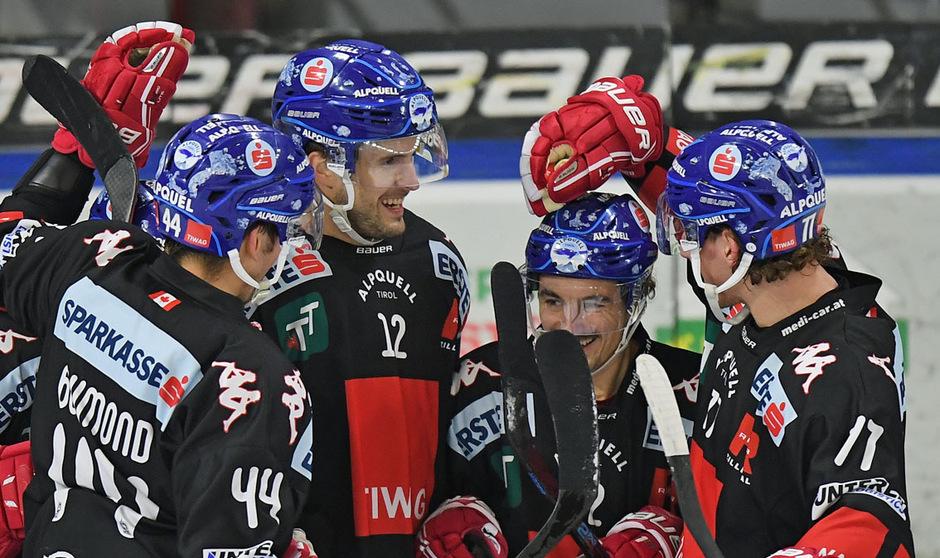 Der HC Innsbruck hatte gegen den VSV gleich mehrmals Grund zum Jubeln.