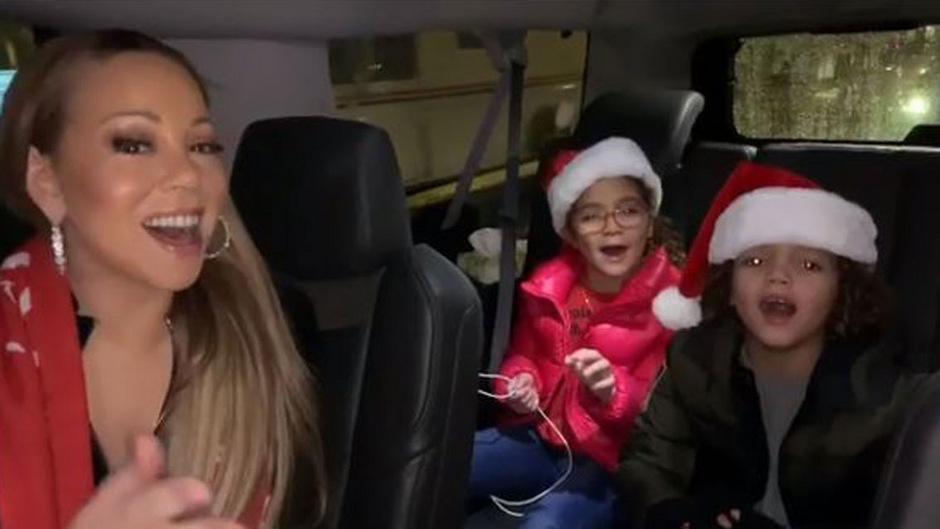 "Mariah Carey lässt ihre Kinder ""All I Want for Christmas"" singen ..."